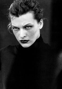 Milla Jovovich photographed by Peter Lindbergh