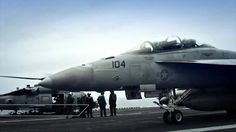 Carrier Operations - F-18 in HD...BEAUTIFUL
