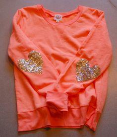 Sequin Elbow Patch Sweatshirt The Dazzle Patch Sweatshirt w/Heart Sequin Elbow…