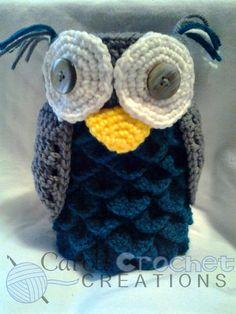 Crocodile Stitch Owl by CarolsCrochets on Etsy, $20.00