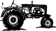 Tractor Farm Equipment Agricultural Car Truck Window Laptop Vinyl Decal Sticker #Oracal