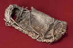 Tule fiber sandal from the Great Basin, Fort Rock type, ca. 500 C.E. Photo by Jannelle Weakly, from the permanent collections of Arizona State Museum.