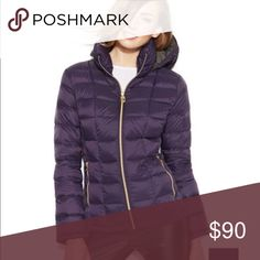 MICHAEL Michael Kors packable down puffer coat MICHAEL Michael Kors purple quilted packable down puffer coat - pre loved - only used a few times - gold hardware - size small but can can also fit a medium MICHAEL Michael Kors Jackets & Coats Puffers