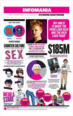 Dame Vivienne Westwood is an English designer famous for bringing punk and new wave fashions into the mainstream