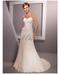 Charming Organza/Satin Sweetheart Sheath/Column Wedding Dresses