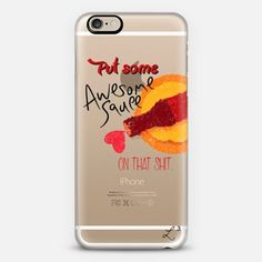 Awesome Sauce iPhone 6 case by Love Lunch Liftoff | Casetify - take $10 off with promo code QJ3PX9 - FREE SHIPPING TOO! #awesome #awesomesauce