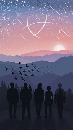 Original digital illustration inspired by The Raven Cycle series by hbailey-design on RedBubble Fanart, Raven King, Maggie Stiefvater, Raven Art, Six Of Crows, Boys Wallpaper, Sunset Landscape, Cycling Art, Power Rangers