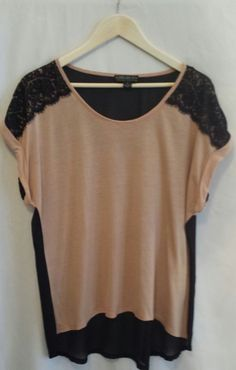Forever 21+ Cotton Blend Women's Apricot and Black Casual Blouse~Size 1X #FOREVER21 #Blouse #Casual