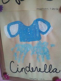 Cinderella hand print art Craft Activities For Kids, Projects For Kids, Craft Projects, Crafts For Kids, Summer Activities, Daycare Crafts, Baby Crafts, Cute Crafts, Kids Prints