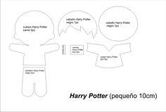 Harry Potter molde feltro 2
