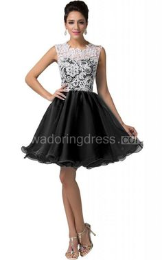 US$75.00-Elegant Black and White Short Lace Homecoming Dress 2016. http://www.newadoringdress.com/cap-sleeved-a-line-lace-bodice-short-dress-p311382.html. The best homecoming dress at cheap prices under $100. Tons of beautiful, modest, inexpensive, vintage, simple, country, unique, tight, elegant homecoming dresses for teens, freshman, curvy girls. Whether you like short or long, any colors, we have it all!
