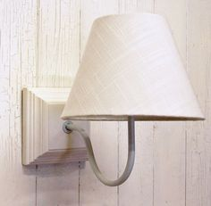 French white wooden wall light