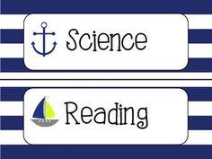 Nautical Daily Schedule Cards Classroom Wall Decor, Classroom Design, Future Classroom, Classroom Themes, Classroom Organization, 5th Grade Activities, Toddler Learning Activities, 3rd Grade Classroom, Preschool Classroom