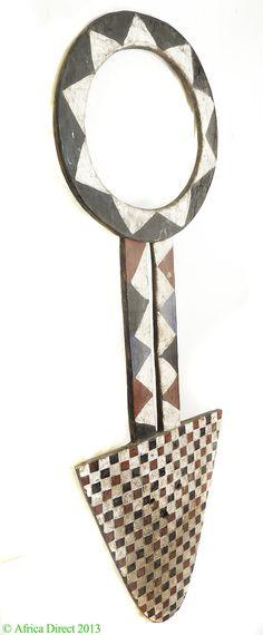 Nafana Bedu Plank Mask 76 Inch Burkina Africa - Bwa, Bobo - African Masks