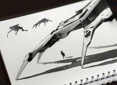 The art of Jama Jurabaev — Experiments Cool Sketches, Cool Drawings, Jama Jurabaev, Environment Sketch, Line Artwork, Line Sketch, Sketches Tutorial, Photoshop Brushes, Types Of Art