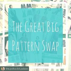 Yay I'm game! Joining this sewing challenge by swapping patterns.    #Repost @the.polka.dot.palace      Happy Saturday everyone!  Emma from @thezipperfoot and I are so excited to launch a new sewing challenge - The Great Big Pattern Swap! We're inviting all you lovely sewists to have a rummage through your pattern stash and set aside any that you just know you're never going to make. Share a photo of the pattern with #greatbigpatternswap  a brief description of the pattern and where you're…