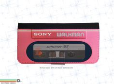 Retro 80's Walkman Leather Wallet Phone Case for iPhone 6, 6s and 6+ and 6+s,