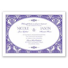 "David's Bridal ""Joyful Damask"" Under 60 bucks for 100 invitations!!"