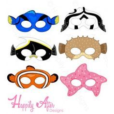 Fish Printable Masks - Finding Nemo or Finding Dory party printable and costume!