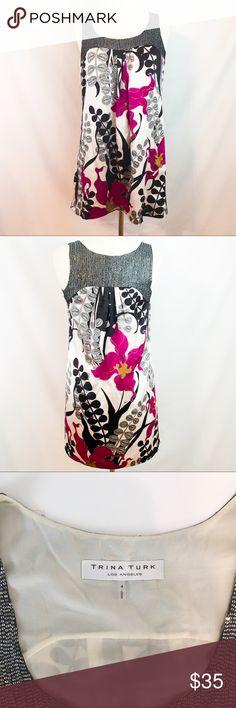 Trina Turk Shift Dress 4 Length: 33.5 inches. Underarm to Underarm: 17.5 inches. Trina Turk Dresses