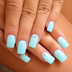 #nails#nailart#tiffany#love#azzurro#verde#acqua#swarovski#ongles#unghie#ricostruzione#colorgel#geluv#uv#like#20likes#instagram#instagramers#instalove #Padgram