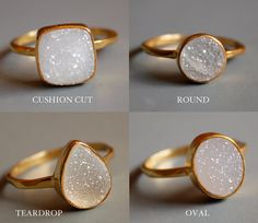 I'm such a sucker for druzy jewelry pieces. Definitely need one of these rings...perfect for upcoming weddings.