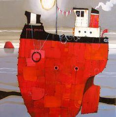 View all Gordon WILSON art and Scottish artwork at Red Rag art gallery. Ship Art, Art Painting, Sculpture Art, Contemporary Artists, Wilson Art, Boat Art, Scottish Art, Contemporary Art Painting, Scottish Painting