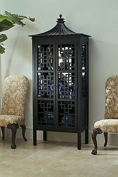 pagoda style cabinet