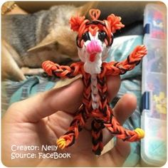 Rainbow loom tiger