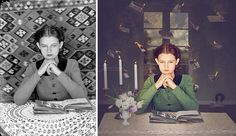 old #photographs converted into magical images by #JaneLong