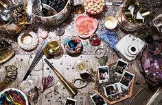 """""""Disco balls, metallic votives, silver trays—go big with bursts of sleek shining moments. They are fabulous alongside sequins and will match the festive notes of all your party pieces and foil horns."""""""
