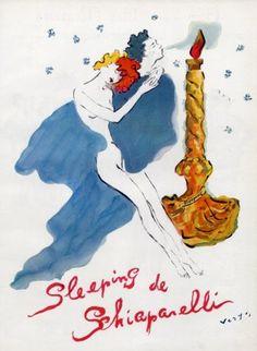 Schiaparelli (Perfumes) 1944 Sleeping, Marcel Vertès