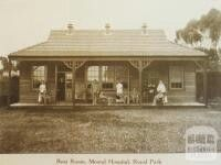 Mental hospital at Royal Park,Parkville in the inner suburb of Melbourne,Victoria in 1917.
