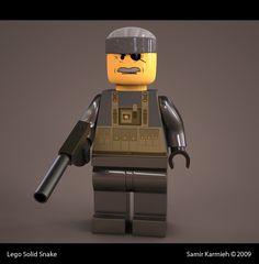 Solid Snake Lego by ~samsite-X on deviantART