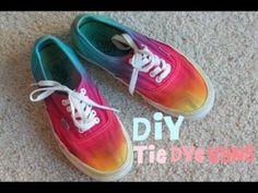 Tie Dye Vans DIY