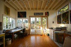 Inside a Trailer Art Studio