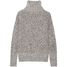 Theory Wyndora wool-blend turtleneck sweater (€345) ❤ liked on Polyvore featuring tops, sweaters, jumper, light gray, turtle neck sweater, chunky turtleneck sweater, loose fitting tops, chunky sweater and turtle neck tops