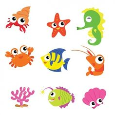 More than a million free vectors, PSD, photos and free icons. Exclusive freebies and all graphic resources that you need for your projects Cartoon Fish, Cute Cartoon, Cartoon Sea Animals, Animals Sea, Underwater Cartoon, Shark Party Decorations, Free Characters, Photos Hd, Cat Treats
