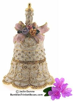 Each box is crafted in pewter or brass with beautiful detail. Love Bells, Ring My Bell, Christmas Bells, Merry Christmas, Small Jewelry Box, Pretty Box, Jewellery Boxes, Treasure Boxes, Little Boxes