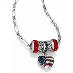 Brighton Patriotic Long Charm Necklace #BrightonCharms