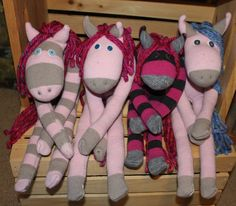 Sock Horses  Kid Preffered over a Sock by CraftyCountryCorner, $20.00