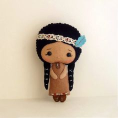 Native American Girl Felt Doll Pattern