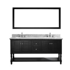 Virtu USA Julianna 72 in. Double Round Basins Vanity in Espresso with Marble Vanity Top in White and Mirror-MD-3172-WMRO-ES - The Home Depot
