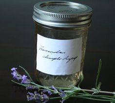 lavender simple syrup for all the other recipes Lavender Syrup, Lavender Roses, Lavender Recipes, Mojito Recipe, Edible Flowers, Summer Cocktails, Simple Syrup, Other Recipes, Bartender