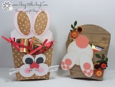 Stampin' Up! Fry Box Die Easter Bunny Treat Holders