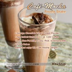 Cafe Mocha Protein Shake #proteinshakes #bodybuilding #weightloss #recipes