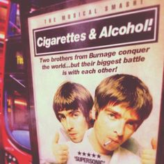 """brotherly love """"Gallagher Brothers"""" Oasis Live Forever, My Favorite Music, My Favorite Things, Brotherly Love, Two Brothers, Best Vibrators, Musicals, Musical Theatre"""