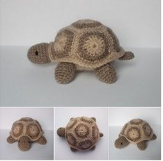 Crochet Turtle, Crochet Bear, Crochet Animals, Crochet For Kids, Free Crochet, Weaving Patterns, Crochet Patterns Amigurumi, Crochet Dolls, Turtle Pattern
