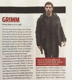 TV Guide article about Grimm Season Four Finale!