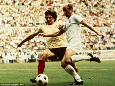 In the heat of the battle: Charlton played for England in the 1970 World Cup in Mexico